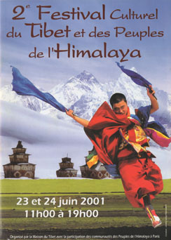 I took my thangkas to Paris for the Festival of Tibet and the Himalayas