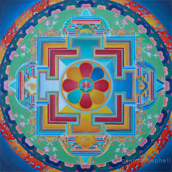 Stylised version of the traditional mandala