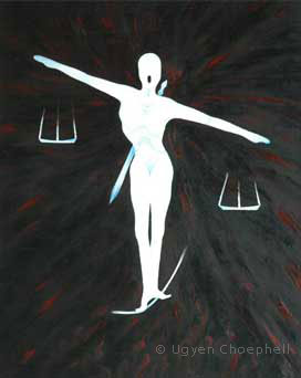The balancing act of law and justice.